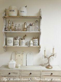 Kitchen rack/corner. My little white home by Nadine