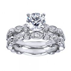 #Antique Setting   #Diamond Engagement Ring {a perfect pair}