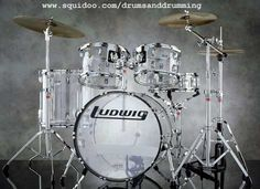 Ludwig Vistalite Clear drum kit..nothing to stand in the way of the drummer--clarity