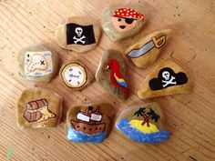 Story stones Pirate Edition by HandyPendantry on Etsy, £12.00