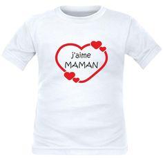 cf442a055c921 T-shirt enfant original   j aime MAMAN (plusieurs couleurs)