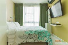 ห้องนอนสีเขียว บรรยากาศใกล้ชิดธรรมชาติ @ I Condo สุขุมวิท 103