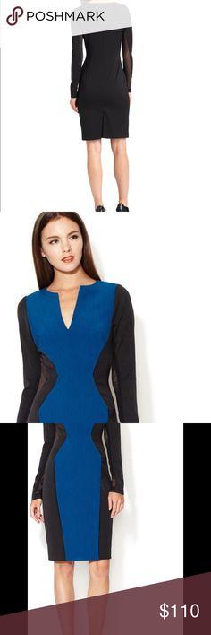 Selling this Black Halo Blue/Black Color block Dress  Sz 8 New on Poshmark! My username is: allinmycloset. #shopmycloset #poshmark #fashion #shopping #style #forsale #Black Halo #Dresses & Skirts