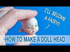 How to make a Fairy Doll Head from Polymer Clay - YouTube