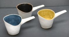 Three Dame Lucie Rie and Hans Coper stoneware pouring vessels SOLD £1650