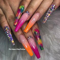 Wow love these short acrylic nails. Perfect Nails, Gorgeous Nails, Pretty Nails, Bling Nails, Swag Nails, Fire Nails, Nails Only, Long Acrylic Nails, Nail Games
