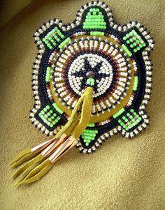 Lakota Native American Beaded Turtle Magnet by LakotaBeadwork