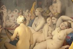 Jean Auguste Dominique Ingres 1780-1867 – Fransa  Le Bain TURC - Türk Hamamı  Sanatçı Oryantalizme katkıda bulunan 'Türk Hamamı' tablosuyla dikkatleri üzerine topladı. Osmanlı topraklarında hiç bulunmamasına rağmen, bu kadar ustalıkla resmedilen çıplak kadınlarla dolu hamam, bazı çevrelerce alkışlanırken, bazılarınca olumsuz eleştirildi. 25 kadının çıplak biçimde hamam sefası yaptığı eseri, Le Figaro Dergisi '19'uncu yüzyılın en erotik resmi' ilan etti.