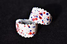 Vintage 80s Boho Confetti Rainbow Hoop Earrings Clip On Mod Retro Costume Jewelry by DecoOwl on Etsy