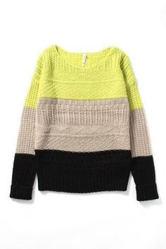 Tri-color sweater / ShopStyle: スタイルクルーズデミ ヴー WILLOWCLAY - shopstyle.co.jp