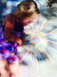 Kids and chalk