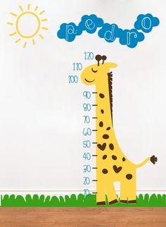 vinilo decorativo medidor metro animales nenes