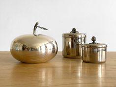 3 pots en métal argenté – 3 silver plated boxes de la boutique nestfrance sur Etsy