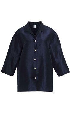 Oversized Silk-Faille Blouse by Rosie Assoulin Now Available on Moda Operandi