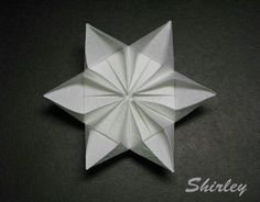 Paper Art - Origami - 6-Point Star