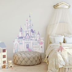 Roommates Disney Princess Glitter Castle Peel and Stick Giant Wall Decal * Learn more by visiting the image link. (This is an affiliate link) Disney Princess Bedding, Disney Princess Castle, Princess Bedrooms, Princess Room, Princess Nursery, Bedroom Themes, Girls Bedroom, Bedroom Designs, Bedroom Decor