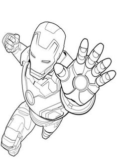 Fun Iron Man coloring pages for your little one. They are free and easy to print. The collection is varied with different skill levels Hulk Coloring Pages, Avengers Coloring Pages, Superhero Coloring Pages, Spiderman Coloring, Marvel Coloring, Coloring Pages To Print, Free Printable Coloring Pages, Coloring Pages For Kids, Coloring Books