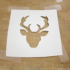 DIY Burlap Candleholders With A Deer Pattern | Shelterness
