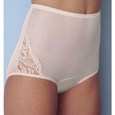 "VF lace full cut nylon pantie ""star white"""