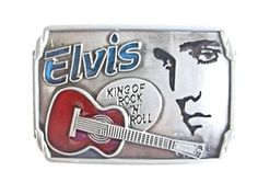 Elvis Belt Buckle - King of Rock N Roll Belts and buckles Fashion Music Emblem