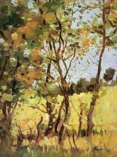 Artwork by Ștefan Luchian - The River Meadow at Poduri, Van Gogh, Sweet Magic, Watercolor Journal, Post Impressionism, Art Database, Online Art, Art History, Google, River