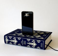 Charles Dickens Great Expectations Book Charging Dock for iPhone and iPod (any other cloth-bound Penguin Classic from that store would also work. $52
