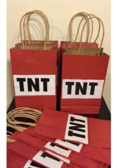 12PK TNT Goodie Bags with Handles by Theperfectpinata on Etsy