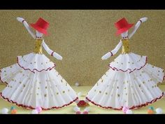 DIY Paper Crafts | How to Make Amazing Dancing Doll from Tissue Paper | Fun Crafts - YouTube