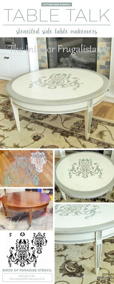 A DIY Painted And Stenciled Coffee Table Makeover Using The Birds Of  Paradise Stencil. Http://www.cuttingedgestencils.com/birds Pattern Stencil .html