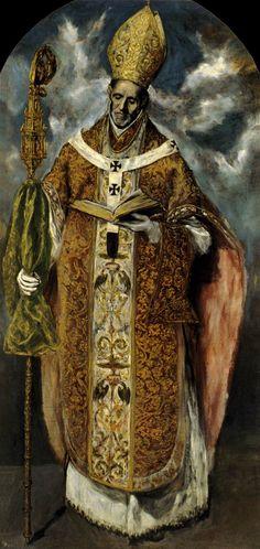 GRECO, El St Ildefonso 1610-13 Oil on canvas, 219 x 105 cm Monasterio de San Lorenzo, El Escorial