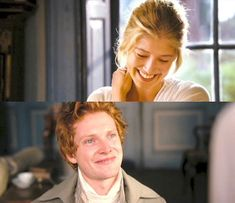 I do love how from the very first moment they met, Jane and Mr. Bingley were both so taken with each other. They couldn't help but smile, and Mr. Bingley stumbled so awkwardly over his words when speaking with her. So sweet. They are quite perfect together.