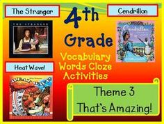 Cloze Worksheets for Houghton Mifflin Harcourt 4th Grade Theme 3