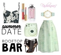 """""""Looking Good"""" by fashionova1 ❤ liked on Polyvore featuring Chicwish, L'Agence, L.A.M.B., Yves Saint Laurent, Gucci, Kate Spade, summerdate and rooftopbar"""