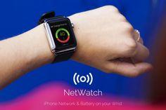 NetWatch - le niveau de réseau et de batterie de votre iPhone sur Apple Watch