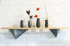 HomeMade Modern DIY EP12 Faceted Concrete Hooks Options