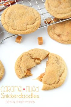 Do you love caramel? Then these Soft and Chewy Caramel Filled Snickerdoodle Cookies are the cookies for you. Dough can be made ahead and stored for later!