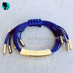 Náramok Fox Dark Blue  #bracelet #bracelets #accessories #jewelry #bijouterie #bizuteria #naramok #dnesnosim http://femmefashion.sk/naramky/2560-naramok-fox-dark-blue.html