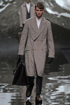 Louis Vuitton Men's RTW Fall 2013 - Snow Leopard print.