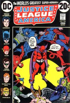 Justice League of America #106 (1960 series) - cover by Nick Cardy