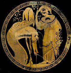 Athena/e / Minerva. Athena sprang full grown in armour from Zeus' forehead… Ancient Greek Art, Ancient Greece, Ancient History, Art History, Historia Universal, Greek Pottery, Art Antique, Minoan, Wow Art