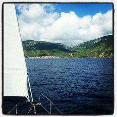 Llegando a la isla de Vis. Croacia.