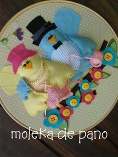 Quadro Passarinhos - MOD 2 - 22cm
