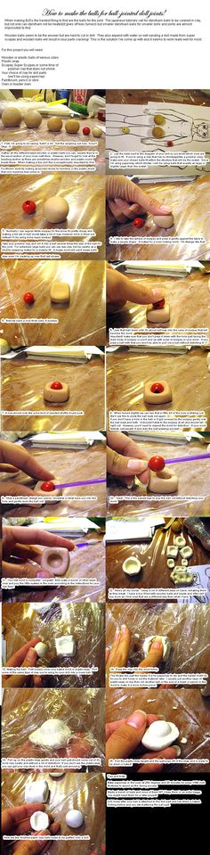 Ball-joint Tutorial 2 by *batchix on deviantART....how to make a mold to create the BJD joints