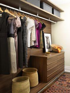 25 Walk-In Closet Design Ideas - image 22 Wardrobe Storage, Wardrobe Closet, Closet Bedroom, Closet Storage, Walk In Closet, Closet Clothing, Closet Small, Storage Organization, August Home