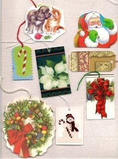 Save your used gift cards.  Cut the fronts of the cards to make lovely gift tags using fancy edged scissors if desired. Punch a hole in the top of the tag, then thread a colored string through.