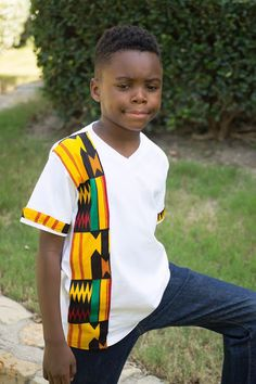 NEW African print kente t shirt design Africa by MawusiClothing