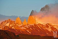 Sonnenaufgang mit Blick auf Monte Fitz Roy vom Mirador Condor