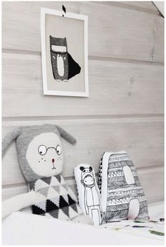 Hand made dolls and pillows by nakedlunge.com