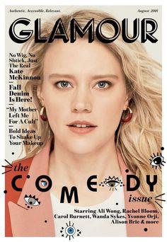 Glamour magazine Kate McKinnon Fall denim Bold makeup ideas The comedy issue Old Comedians, Fashion Magazine Cover, Magazine Covers, Magazine Photos, Dior, Get Instagram, Carol Burnett, Kate Mckinnon, Vogue