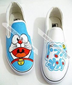 2013 Newest Doraemon Cartoon Canvas Slip on Shoes Avilable in Kids/Adults Size Cartoon Shoes, Doraemon Cartoon, Canvas Slip On Shoes, Anime Fnaf, Hand Painted Shoes, Shoe Art, Kids Sneakers, Galaxies, Designer Shoes